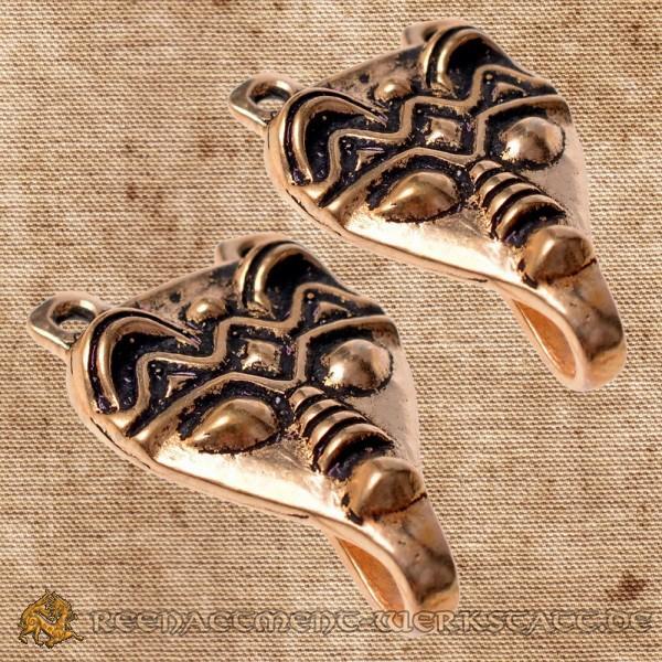 Paar Wadenwickel-Haken aus Gnzedovo Bronze