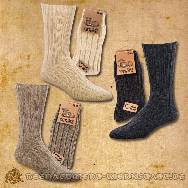 "100% ""Virgin Wool"" Socken * 2er-Bündel"