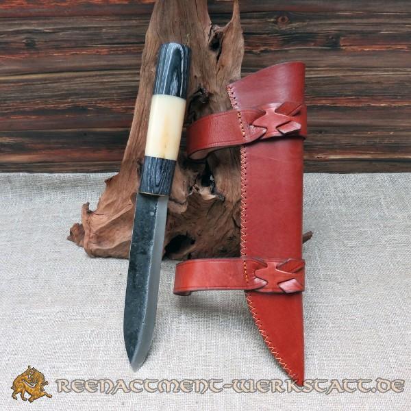 Saxmesser mit Griff aus Kamelknochen und Schwarzholz