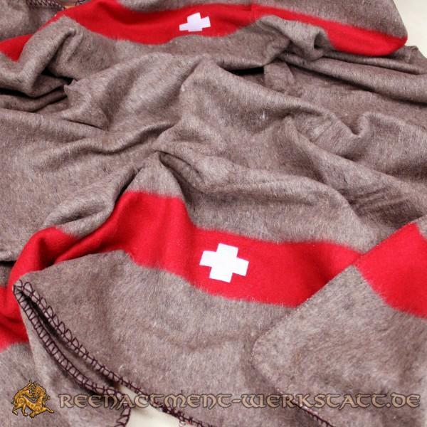 Neuwertige Schweizer Wolldecke Armeedecke