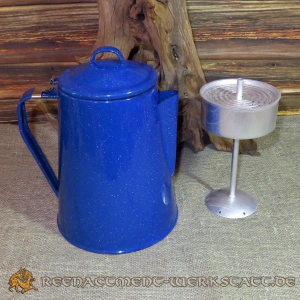 Western-Kaffeekanne mit Percolator