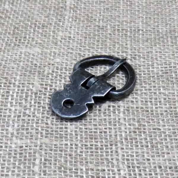 Eisen-Schnalle mit Nietblech für 2 cm