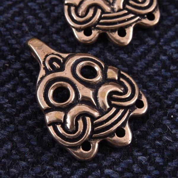 Paar Wadenwickel-Haken aus Birka, bronze