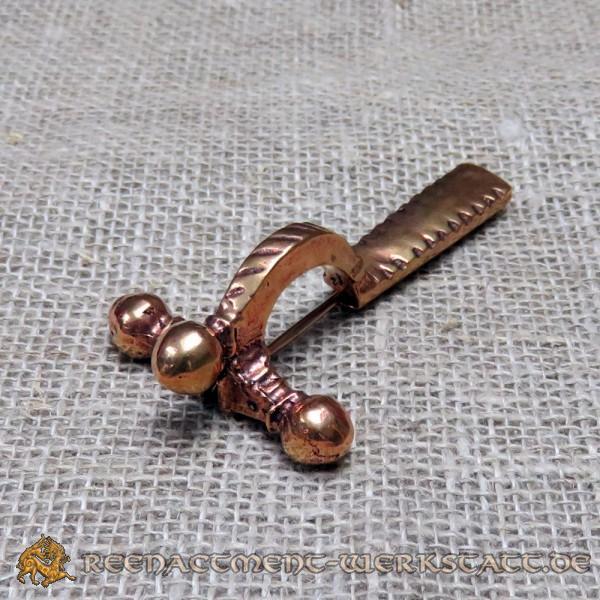 Große Römische Zwiebelknopf-Fibel aus Bronze