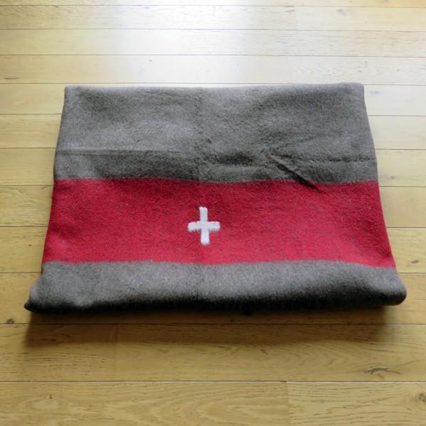 Neuw. Original Schweizer Wolldecke Armeedecke