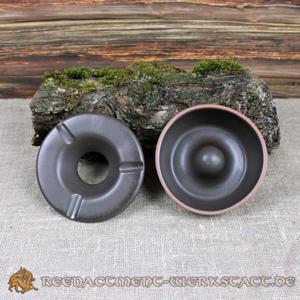 Sturmaschenbecher Keramik dunkelbraun
