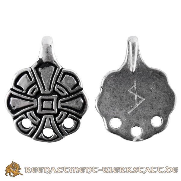 Paar angelsächsische Wadenwickel-Haken mit Kreuz, silber