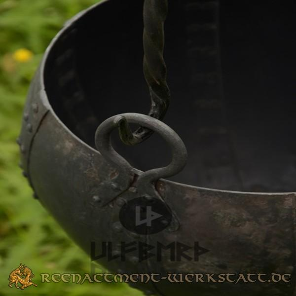 Vernieteter Lagertopf aus Stahl 10 Liter