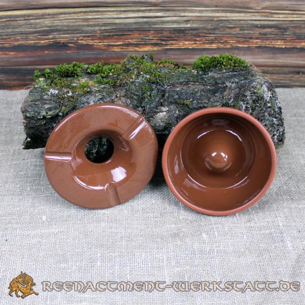 Sturmaschenbecher Keramik rotbraun